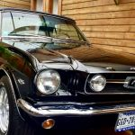 Ford mustang cabriolet 1966 - noir intérieur noir - 1