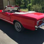 Ford mustang cabriolet 1967 - Rouge intérieur rouge - 1