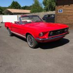 Ford mustang cabriolet 1967 - Rouge intérieur rouge - 2