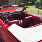 Ford mustang cabriolet 1967 - Rouge intérieur rouge - 4