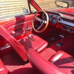 Ford mustang cabriolet 1967 - Rouge intérieur rouge - 6