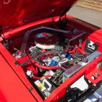 Ford mustang cabriolet 1967 - Rouge intérieur rouge - 8