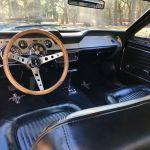 Ford mustang cabriolet 1968 - bleu marine interieur noir - 6