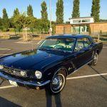 Ford mustang coupe 1964 - bleu marine intérieur bleu blanc - 1