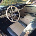 Ford mustang coupe 1964 - bleu marine intérieur bleu blanc - 4