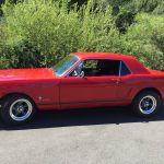 Ford mustang coupe 1965 - rouge intérieur noir - 1