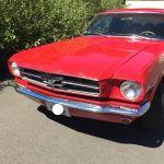 Ford mustang coupe 1965 - rouge intérieur noir - 2