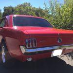 Ford mustang coupe 1965 - rouge intérieur noir - 4