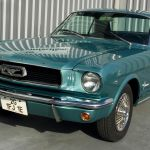 Ford mustang coupe 1966 - bleu lagoon intérieur noir - 1