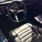 Ford mustang coupe 1966 - bleu lagoon intérieur noir - 2