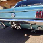 Ford mustang coupe 1966 - bleu lagoon intérieur noir - 3