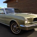 Ford mustang coupe 1966 - verte bande blanche - 1