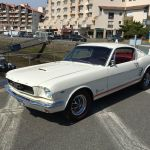 Ford mustang fastback 1966 - blanc intérieur rouge - 1