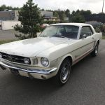 Ford mustang coupe 1965 - blanche intérieur rouge - fm109 - 1