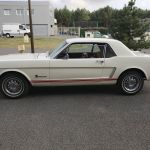 Ford mustang coupe 1965 - blanche intérieur rouge - fm109 - 2