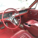 Ford mustang coupe 1965 - blanche intérieur rouge - fm109 - 8