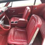 Ford mustang coupe 1965 - blanche intérieur rouge - fm109 - 9